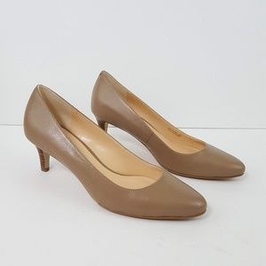 {Cole Haan} Grand.OS Taupe Stacked Heel Pumps 6.5